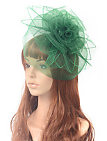 cheap -Elegant Retro Tulle Fascinators with Feather / Hollow-out 1 Piece Special Occasion / Party / Evening Headpiece
