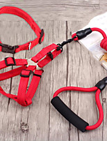 cheap -Dog Harness Leash Set Portable Retractable Nylon Black Yellow Red Blue 3pcs