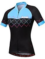 cheap -women's bike jersey short sleeve reflective with rear zippered bag waves black size m