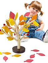 cheap -Wood Building Blocks Tree Set for Kids Children Men Preschool Boys and Girls DIY Learning Educational 3D Wooden Assembled Toys Tile Game Home Office Decor (Four Colors Leaves)