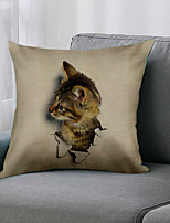 cheap -Double Side 1 Pc Animal Cushion Cover  Print 45x45cm Linen for Sofa Bedroom