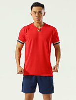 cheap -Men's Hiking Tee shirt with Shorts Short Sleeve Clothing Suit Outdoor Quick Dry Lightweight Breathable Stretchy Autumn / Fall Spring Summer Spandex Polyester White Yellow Red Fishing Climbing Camping