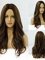 cheap -Synthetic Wig Deep Wave Middle Part Wig Medium Length A1 A2 A3 A4 A5 Synthetic Hair Women's Cosplay Party Fashion Brown