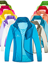 cheap -Women's Men's Hiking Jacket Cycling Jersey Hiking Skin Jacket Spring Summer Outdoor Solid Color UV Sun Protection Ultraviolet Resistant Quick Dry Lightweight Jacket Hoodie Top Full Length Visible