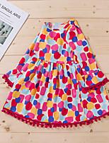 cheap -Kids Toddler Little Girls' Dress Polka Dot Print Rainbow Long Sleeve Active Dresses Summer Regular Fit 2-6 Years