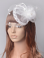 cheap -Elegant Retro Tulle Fascinators with Feather / Floral 1 Piece Special Occasion / Party / Evening Headpiece