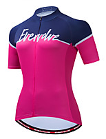cheap -Women's Short Sleeve Cycling Jersey Dark Pink Bike Top Sports Clothing Apparel / Micro-elastic / Athleisure