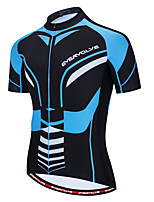cheap -Men's Short Sleeve Cycling Jersey Red / White Blue / Black Bike Jersey Quick Dry Sports Clothing Apparel / Micro-elastic / Athleisure
