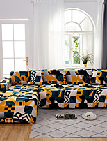 cheap -Sofa Cover The Geometric Colourful Print DustproofStretch  L Shape Sofa (You will Get 1 Throw Pillow Case as free Gift)