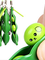 cheap -3 Pack Edamame Keychain Fidget Toys - Squeeze-a-Bean Puchi Puti Mugen Keyring Pea Keychain Soybean Toys Gift