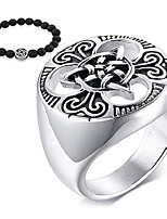 cheap -gungneer stainless steel celtic triquetra knot eternal love ring us size 7-13 irish engagement jewelry men women