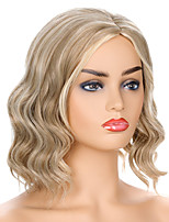 cheap -Synthetic Wig Water Wave Middle Part Wig Short Light golden Synthetic Hair Women's Party Fashion Comfy Blonde Brown