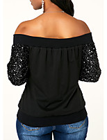 cheap -amazon hot sale european and american foreign trade new product women's fall/winter fashion sequined neckline shoulder slim long sleeve jacket