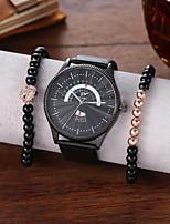 cheap -Men's Dress Watch Analog Quartz Minimalist Chronograph Large Dial / PU Leather