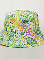 cheap -Men's Women's Fisherman Hat Hiking Cap 1 PCS Winter Outdoor Sunscreen Floral / Botanical Printing Cotton Green / Yellow Blue+Pink White for Fishing Beach Camping / Hiking / Caving