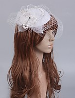 cheap -Retro Pearl Tulle Fascinators with Pearls / Crystals 1 Piece Special Occasion / Party / Evening Headpiece