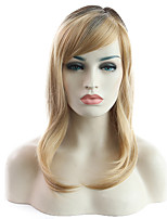 cheap -Synthetic Wig Curly Side Part Wig Medium Length Light Blonde Synthetic Hair Women's Party Fashion Comfy Blonde