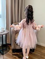 cheap -girls dress spring 2021 new korean style western girl princess dress fluffy spring and autumn children's mesh skirt