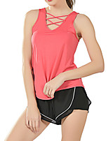 cheap -Women's Tank Top Tee / T-shirt Crossover Spandex Sport Athleisure Top Sleeveless Breathable Soft Comfortable Yoga Running Everyday Use Casual Daily Outdoor