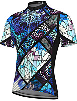 cheap -21Grams Men's Short Sleeve Cycling Jersey Spandex Blue Bike Top Mountain Bike MTB Road Bike Cycling Breathable Quick Dry Sports Clothing Apparel / Athleisure