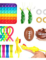 cheap -19 pcs Fidget Toy Sensory Toy Autism Squishy Stress Reliever Toy Adult Child Funny Anti-stress Push Pop Bubble kids Toy