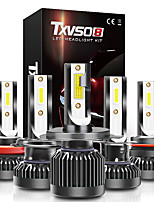 cheap -TXVSO8 Car LED Headlamps H10 / H9 / H7 Light Bulbs 8000 lm COB 80 W 2 For universal All Models All years 2pcs