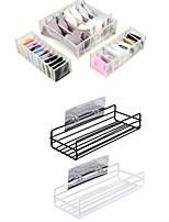 cheap -2 Set Ironwork Hole-free Storage Rack Underwear Organizer 3 Set Drawer Dividers Foldable Closet Storage Boxes with 6/7/11 Compartments for Underwear Bra Socks Tie