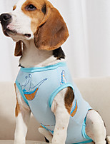cheap -Dog Surgery Recovery Suit Print Basic Adorable Cute Dailywear Casual / Daily Dog Clothes Puppy Clothes Dog Outfits Breathable Yellow Blue Pink Costume for Girl and Boy Dog Cotton S M L XL XXL