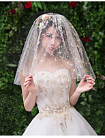 cheap -One-tier Cute Wedding Veil Shoulder Veils with Starfish and Seashell Tulle