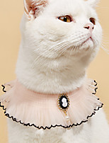 cheap -Dog Cat Bandanas & Hats Cat Birthday Bandana Hat Lace Flower Cute Sweet Dailywear Casual / Daily Dog Clothes Puppy Clothes Dog Outfits Washable Pink Costume for Girl and Boy Dog Cotton XS S M L