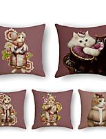 cheap -Cushion Cover 5PCS Short Plush Soft Decorative Square Throw Pillow Cover Cushion Case Pillowcase for Sofa Bedroom 45 x 45 cm (18 x 18 Inch) Superior Quality Machine Washable