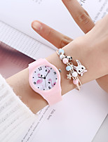 cheap -Women's Quartz Watches Analog Quartz Stylish Minimalist Creative / Silicone