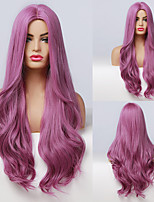 cheap -Synthetic Wig Deep Wave Layered Haircut Wig 26 inch Bright Purple Synthetic Hair Women's Cosplay Party Fashion Purple
