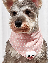 cheap -Dog Cat Bandanas & Hats Cat Birthday Bandana Hat Dot Cute Sweet Dailywear Casual / Daily Dog Clothes Puppy Clothes Dog Outfits Breathable Yellow Pink Gray Costume for Girl and Boy Dog Cotton S M L