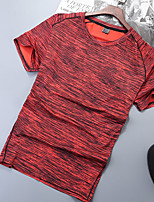 cheap -Women's T shirt Hiking Tee shirt Short Sleeve Tee Tshirt Top Outdoor Quick Dry Lightweight Breathable Sweat wicking Autumn / Fall Spring Summer POLY Random Colors Red Blue Hunting Fishing Climbing