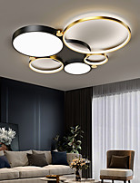 cheap -3/5 Heads Circle LED Ceiling Light Modern Flush Mount Lights Living Room Bedroom Office Acrylic LED Nordic Style 220-240V
