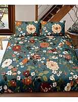 cheap -Flower 3-Piece Duvet Cover Set Hotel Bedding Sets Comforter Cover with Soft Lightweight Microfiber, Include 1 Duvet Cover, 2 Pillowcases for Double/Queen/King(1 Pillowcase for Twin/Single)