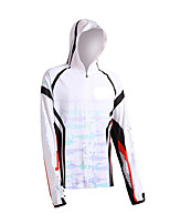 cheap -Women's Men's Hoodie Jacket Skin Coat Outdoor UV Sun Protection UPF50+ Quick Dry Lightweight Jacket Spring Summer Athleisure Fishing Outdoor White Grey / Long Sleeve / Stretchy / Breathable