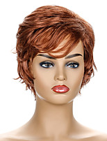 cheap -Synthetic Wig Curly Short Bob Wig Short Brown / Burgundy Synthetic Hair Women's Party Fashion Comfy Brown