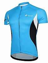 cheap -men cycling jersey short sleeves, bike shirts for men &full zip road bike jersey with pockets(blue,s)