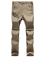 cheap -Men's Hiking Pants Trousers Convertible Pants / Zip Off Pants Patchwork Summer Outdoor Multi-Pockets Quick Dry Breathable Wear Resistance Pants / Trousers Black Army Green Khaki Hunting Fishing
