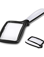 cheap -Folding Handheld Magnifying Glass with Light, 3X Large Rectangle Reading Magnifier with Dimmable LED for Seniors with Macular Degeneration, Newspaper, Books, Small Print, Lighted Gift for Low Visions