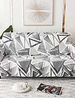 cheap -Grey Stripes Triangle Print Dustproof All-powerful Slipcovers Stretch Sofa Cover Super Soft Fabric Couch Cover with One Free Boster Case(Chair/Love Seat/3 Seats/4 Seats)