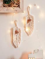cheap -Boho Dream Catcher Handmade Gift Wall Hanging Decor Art Ornament Woven Macrame Leaf Lead 28*8.5cm for Kids Bedroom Wedding Festival
