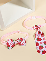 cheap -Dog Cat Necklace Tie / Bow Tie Bowknot Strawberry Elegant Hawaiian Sweet Dailywear Casual / Daily Dog Clothes Puppy Clothes Dog Outfits Breathable Pink Costume for Girl and Boy Dog Cotton M