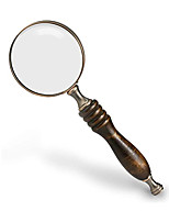 cheap -10X Handheld Magnifying Glass Antique Copper Magnifier with Sandawood Handle,High Magnification Magnifier for Reading, Senior, Low Vision, Map, Inspection, Handcraft Hobby