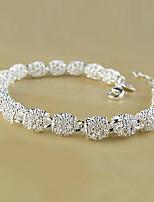 cheap -Women's Chain Bracelet Bracelet Geometrical Precious Fashion Copper Bracelet Jewelry Silver For Christmas Party Wedding Daily Work / Silver Plated