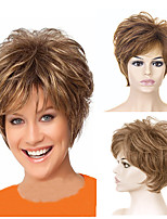 cheap -Synthetic Wig Curly Short Bob Wig Short Light golden Synthetic Hair Women's Party Fashion Comfy Blonde