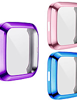 cheap -3-Pack Screen Protector Compatible with Fitbit Versa 2   All-Around Protective TPU Case Plated Anti-Scratch Cover  for Versa  2 Smartwatch
