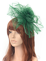 cheap -Elegant Retro Tulle Fascinators with Floral / Tiered 1 Piece Special Occasion / Party / Evening Headpiece
